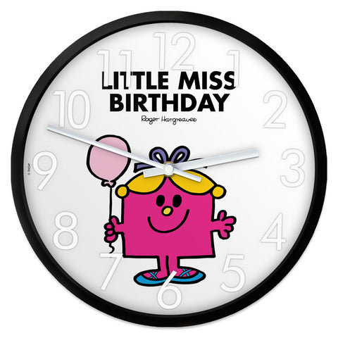 Little Miss Birthday Personalised Clock