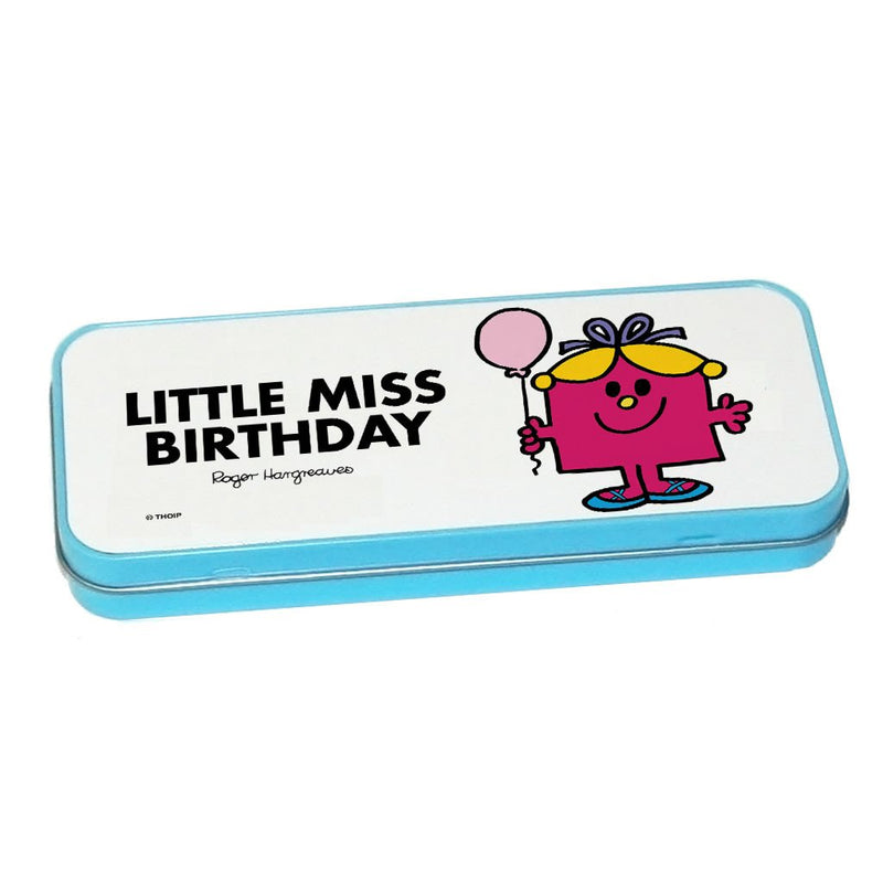 Little Miss Birthday Pencil Case Tin (Blue)