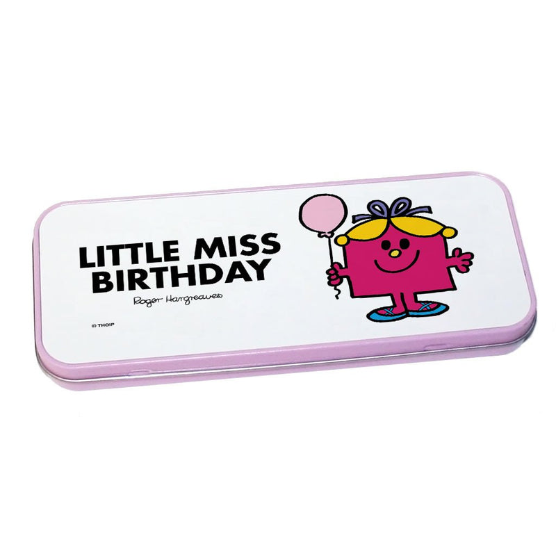 Little Miss Birthday Pencil Case Tin (Pink)