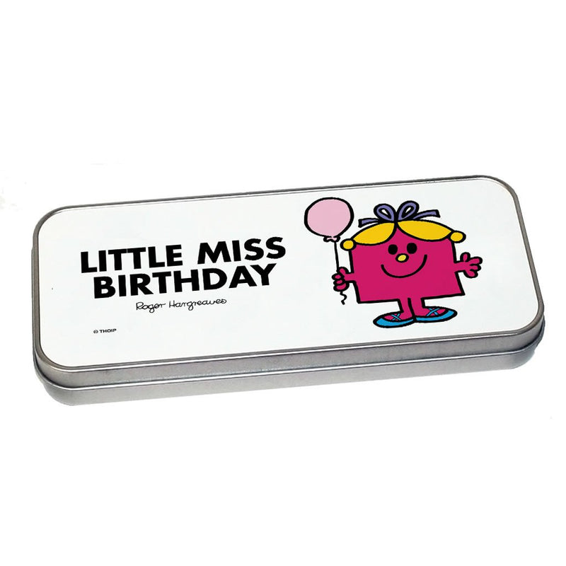 Little Miss Birthday Pencil Case Tin (Silver)