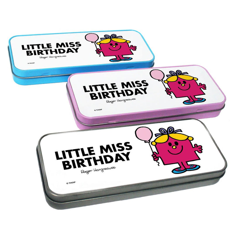 Little Miss Birthday Pencil Case Tin