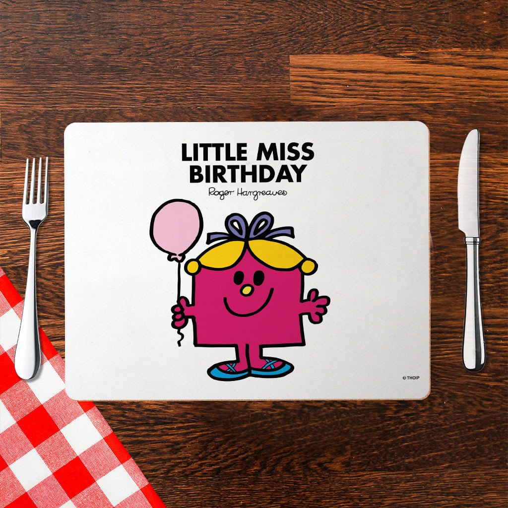 Little Miss Birthday Cork Placemat (Lifestyle)