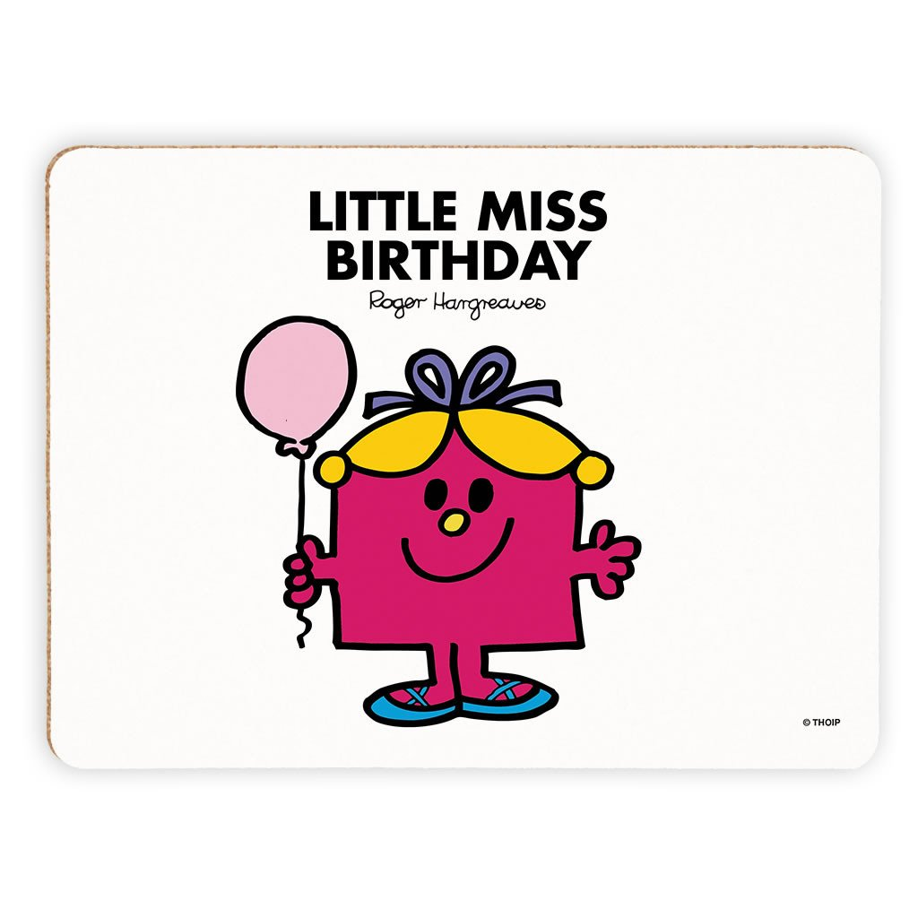 Little Miss Birthday Cork Placemat