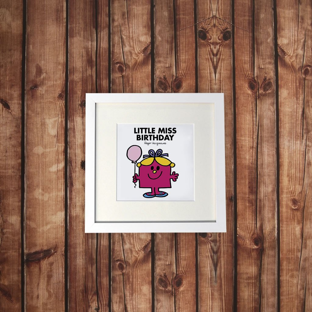 Little Miss Birthday White Framed Print (Lifestyle)