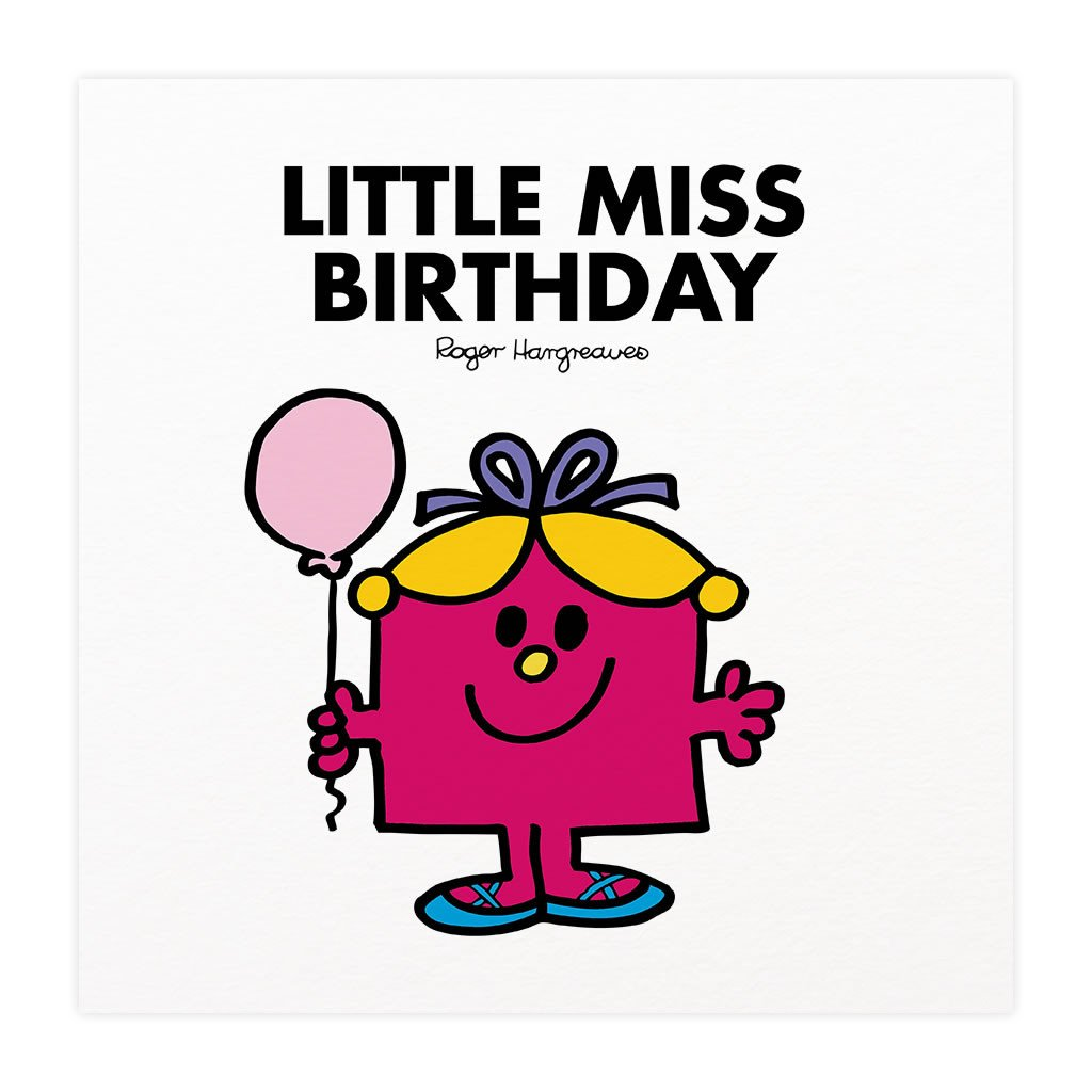 Little Miss Birthday Mounted Art Print