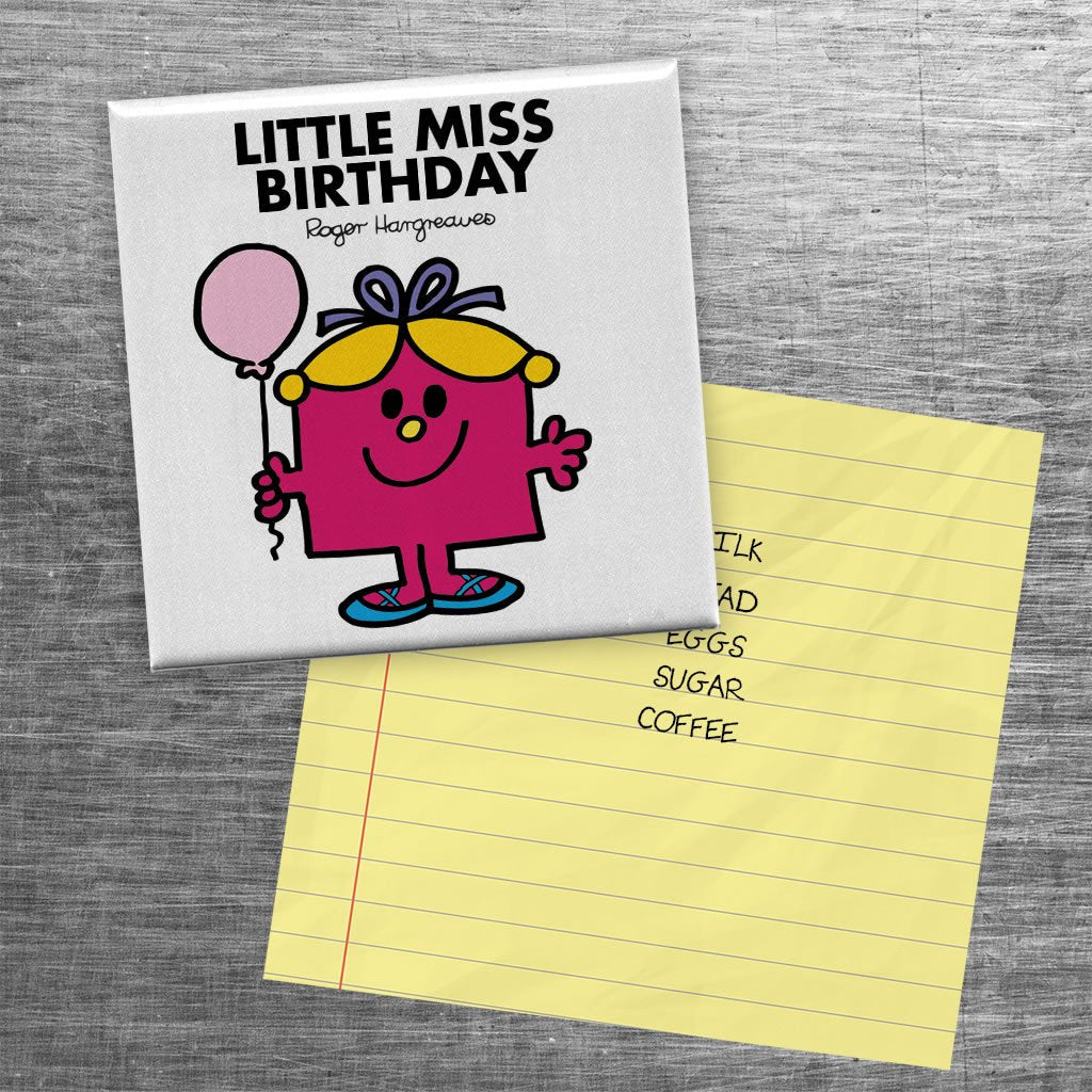 Little Miss Birthday Square Magnet (Lifestyle)