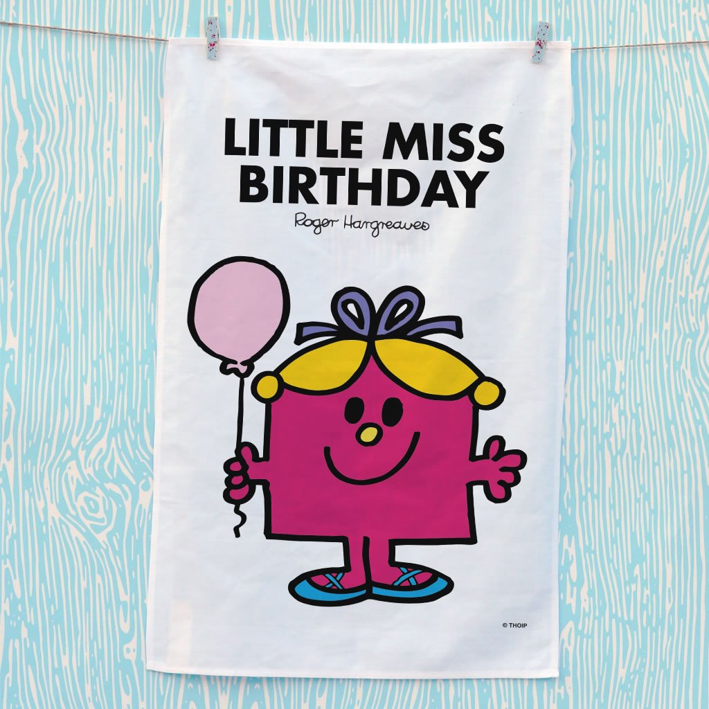 Little Miss Birthday Tea Towel (Lifestyle)