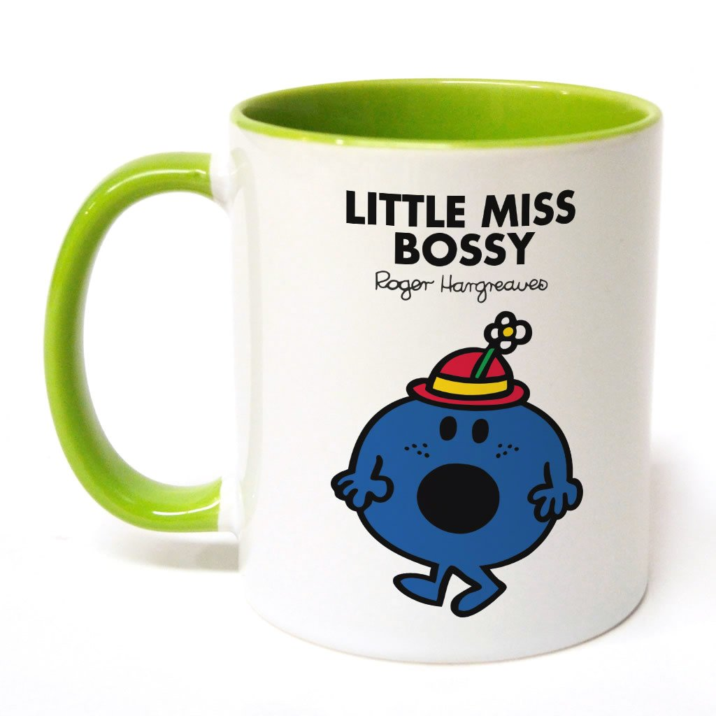 Little Miss Bossy Large Porcelain Colour Handle Mug