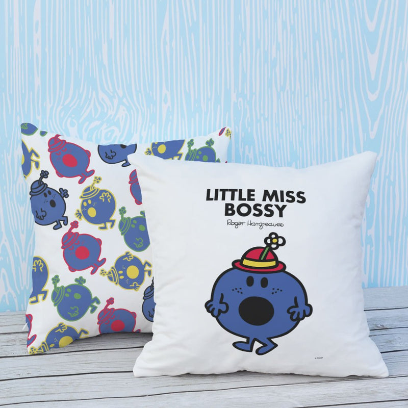 Little Miss Bossy Micro Fibre Cushion (Lifestyle)