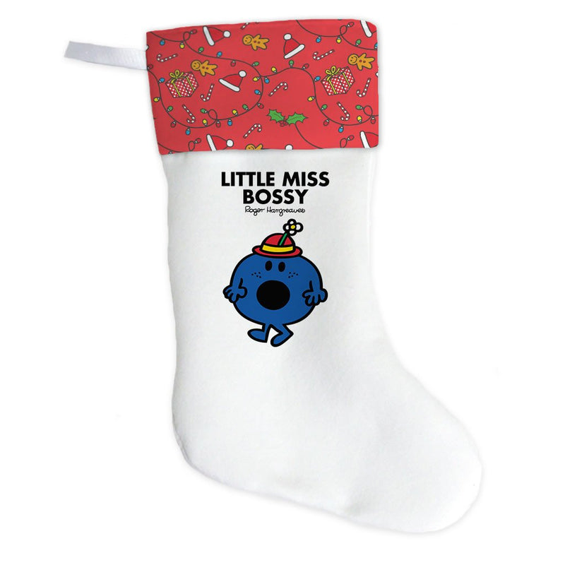 Little Miss Bossy Christmas Stocking (Front)