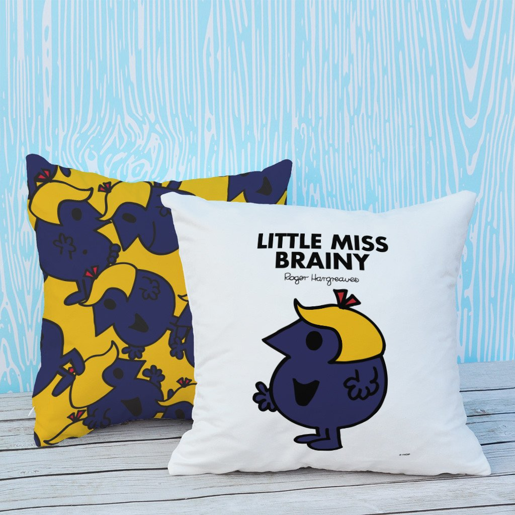 Little Miss Brainy Micro Fibre Cushion (Lifestyle)