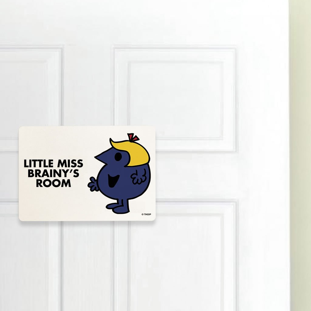 Little Miss Brainy Door Plaque (Lifestyle)