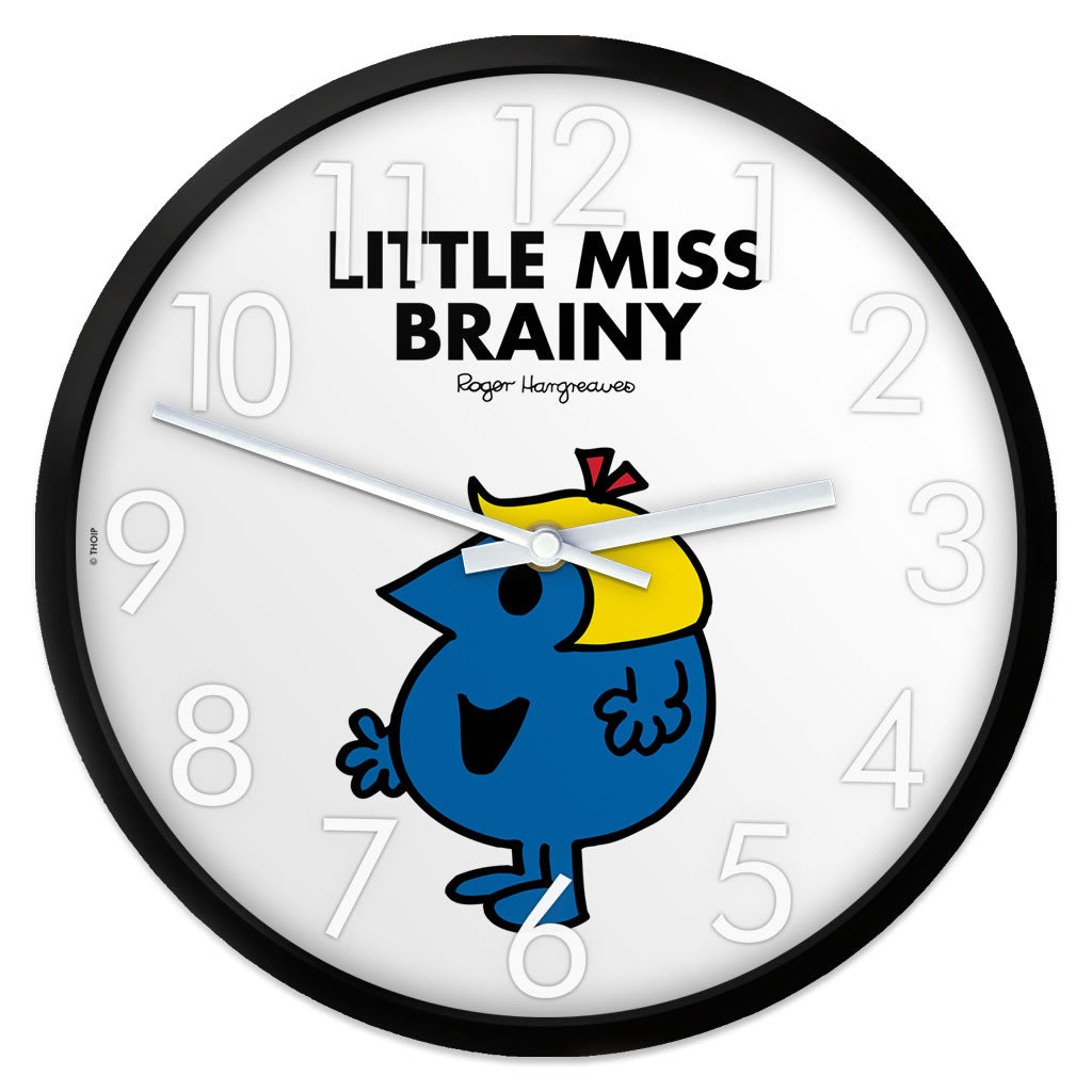 Little Miss Brainy Personalised Clock