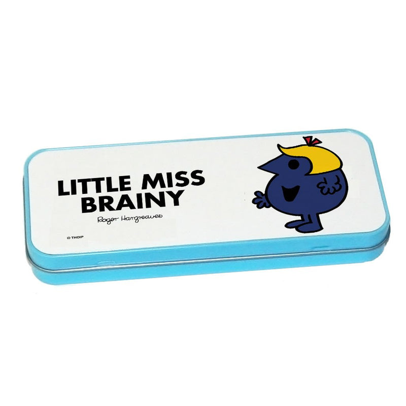 Little Miss Brainy Pencil Case Tin (Blue)