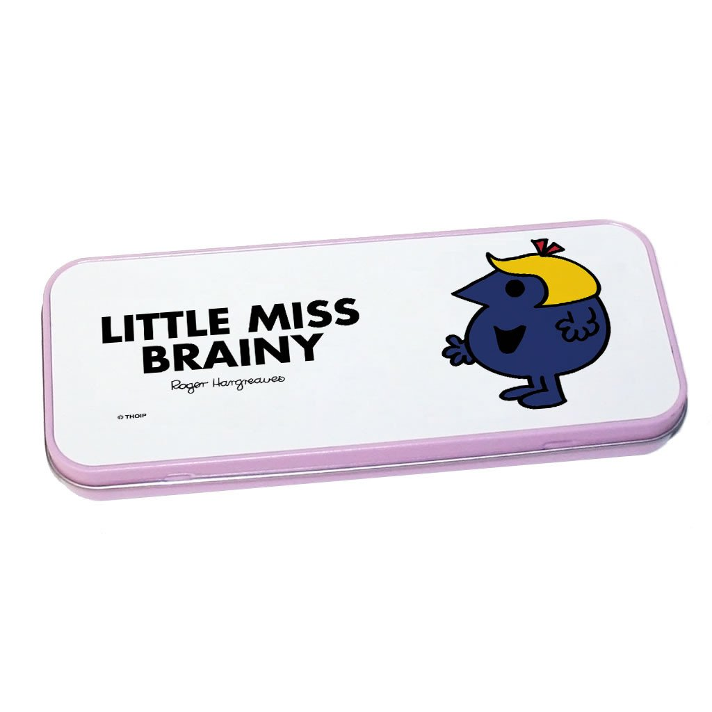 Little Miss Brainy Pencil Case Tin (Pink)