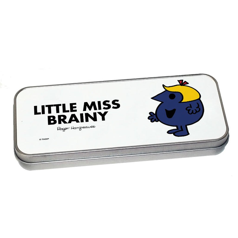 Little Miss Brainy Pencil Case Tin (Silver)