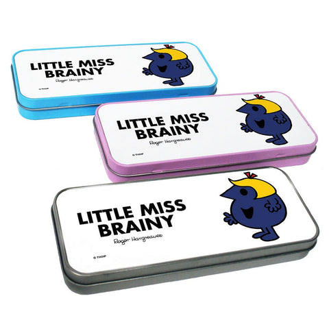 Little Miss Brainy Pencil Case Tin