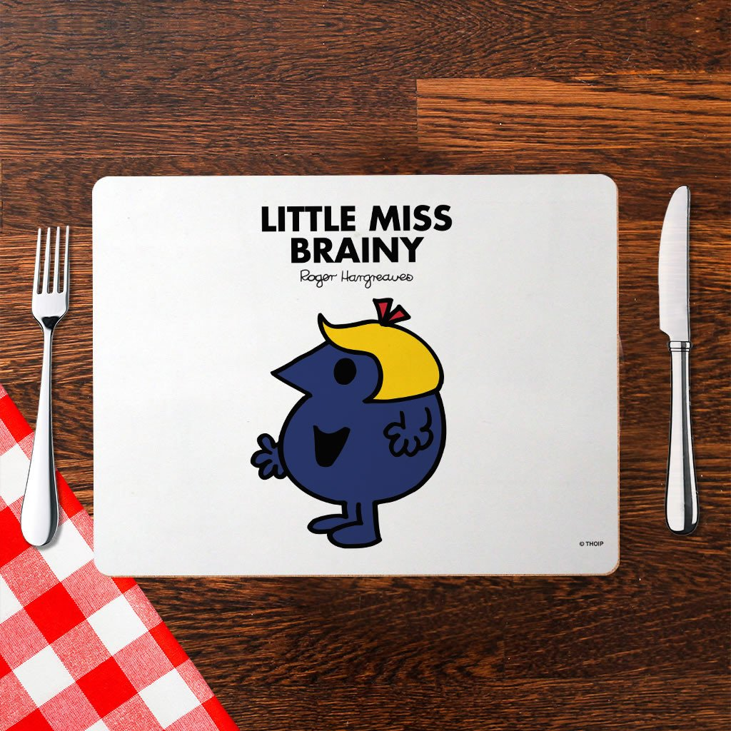 Little Miss Brainy Cork Placemat (Lifestyle)