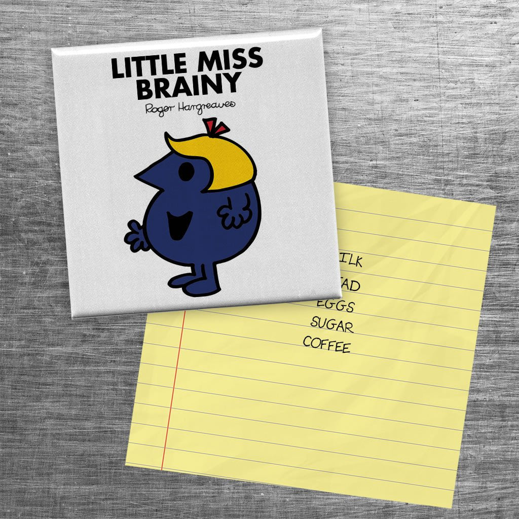 Little Miss Brainy Square Magnet (Lifestyle)