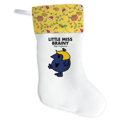 Little Miss Brainy Christmas Stocking (Front)