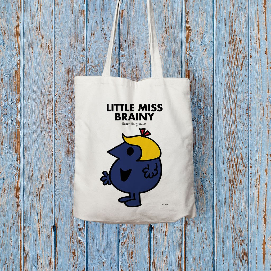 Little Miss Brainy Long Handled Tote Bag (Lifestyle)
