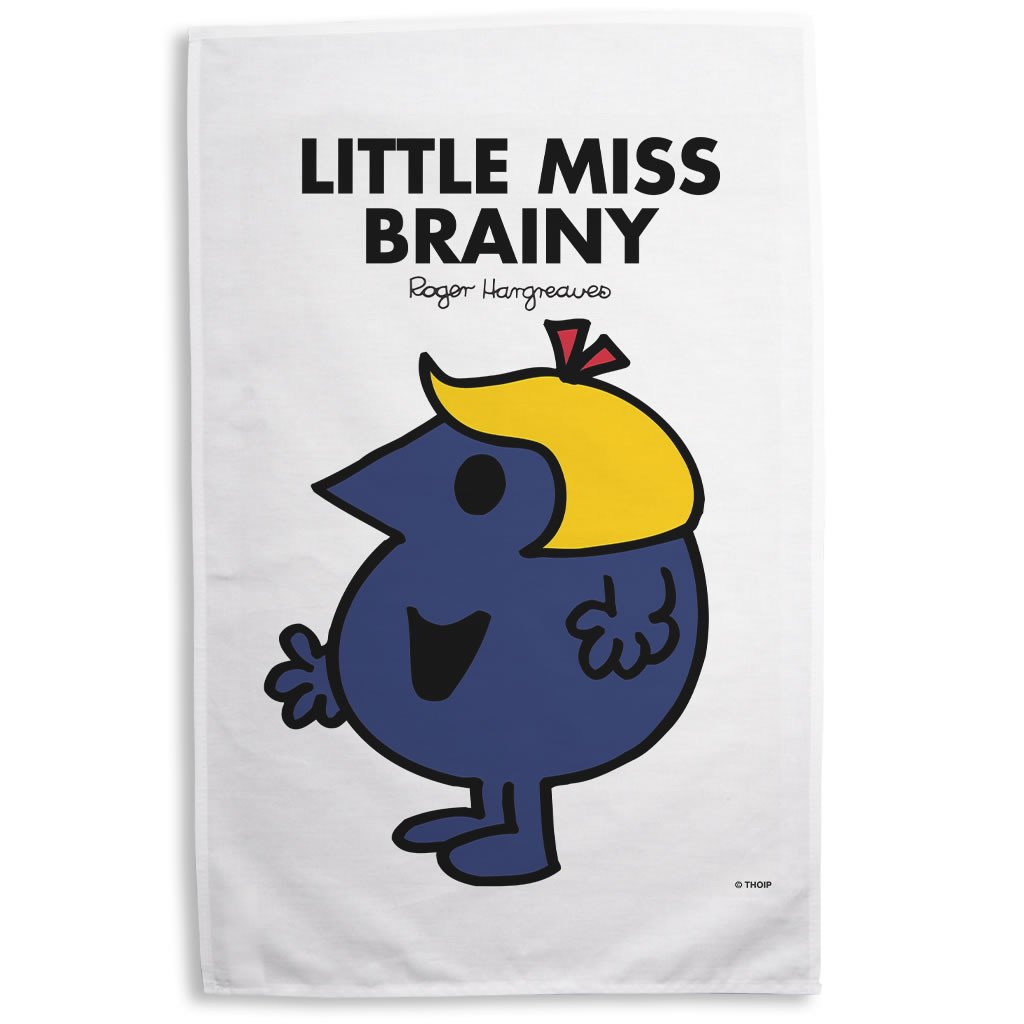 Little Miss Brainy Tea Towel