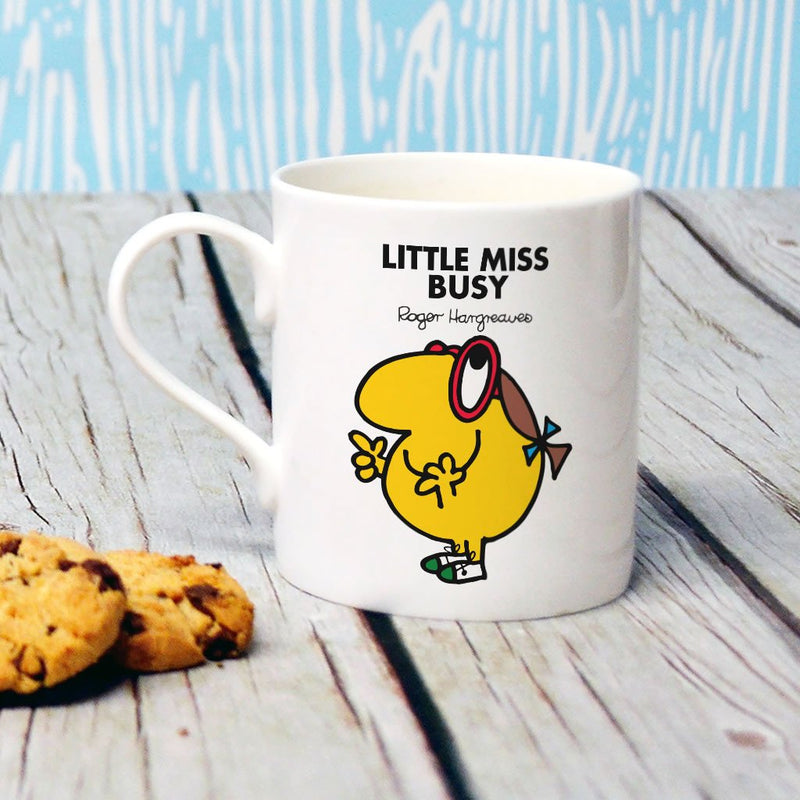 Little Miss Busy Bone China Mug (Lifestyle)