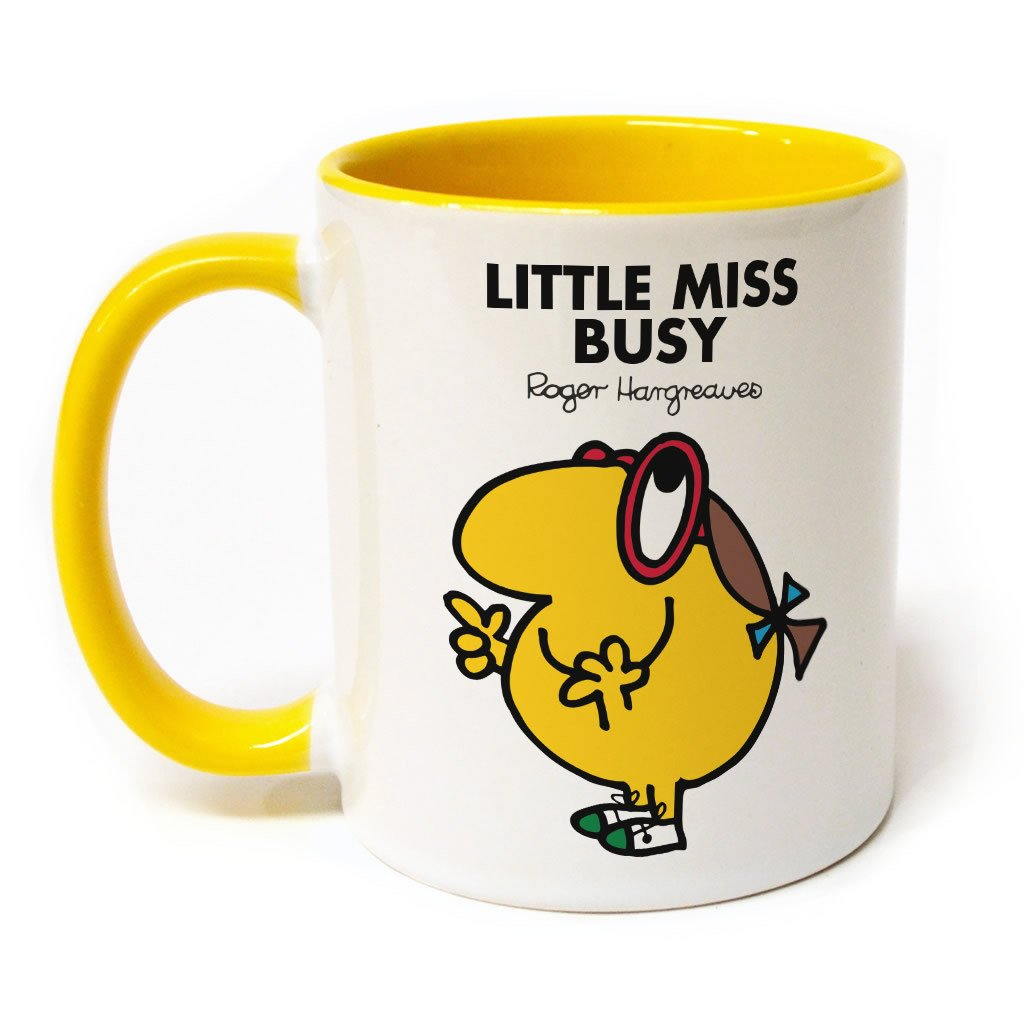 Little Miss Busy Large Porcelain Colour Handle Mug