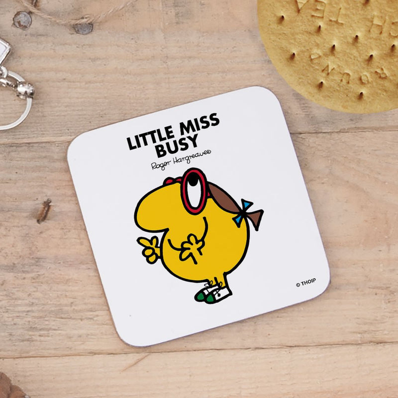 Little Miss Busy Cork Coaster (Lifestyle)