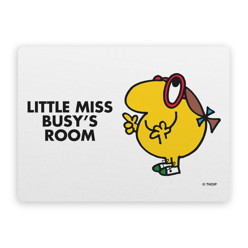 Little Miss Busy Door Plaque
