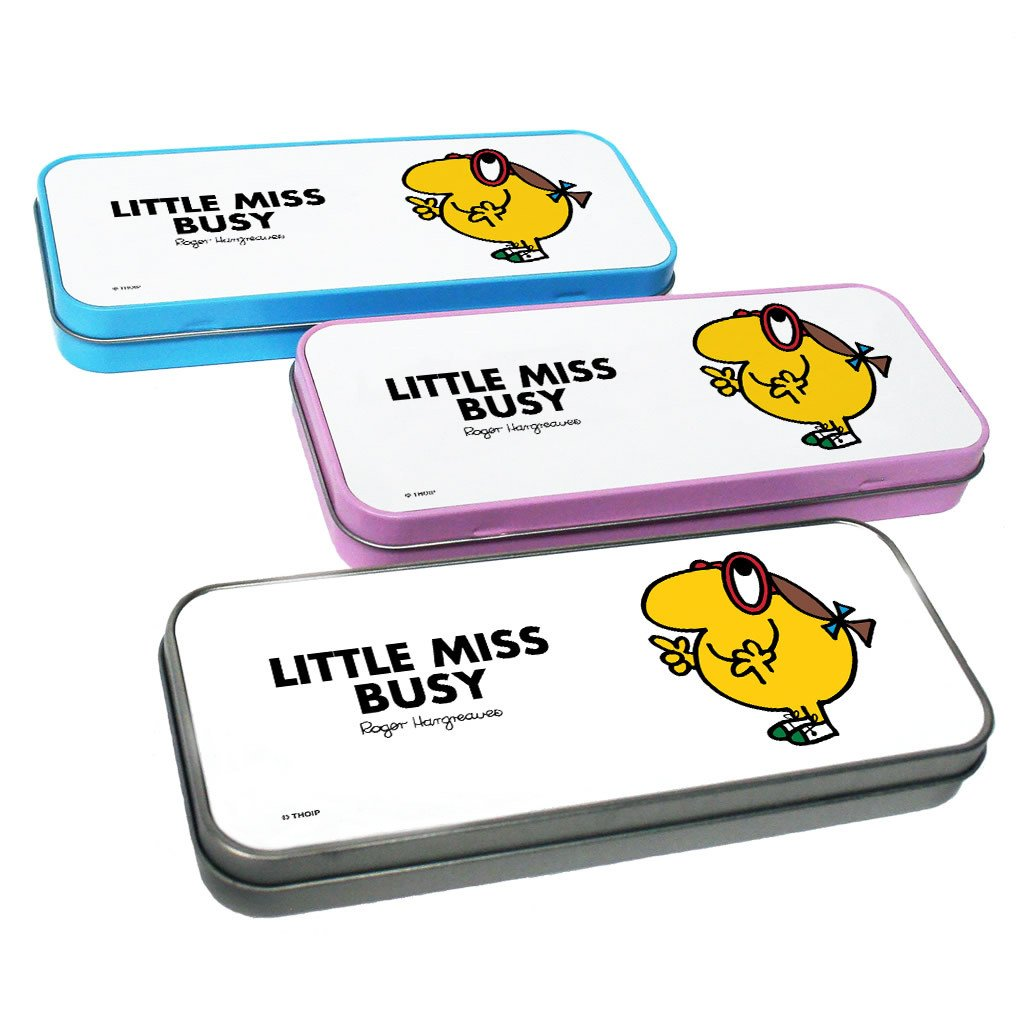 Little Miss Busy Pencil Case Tin