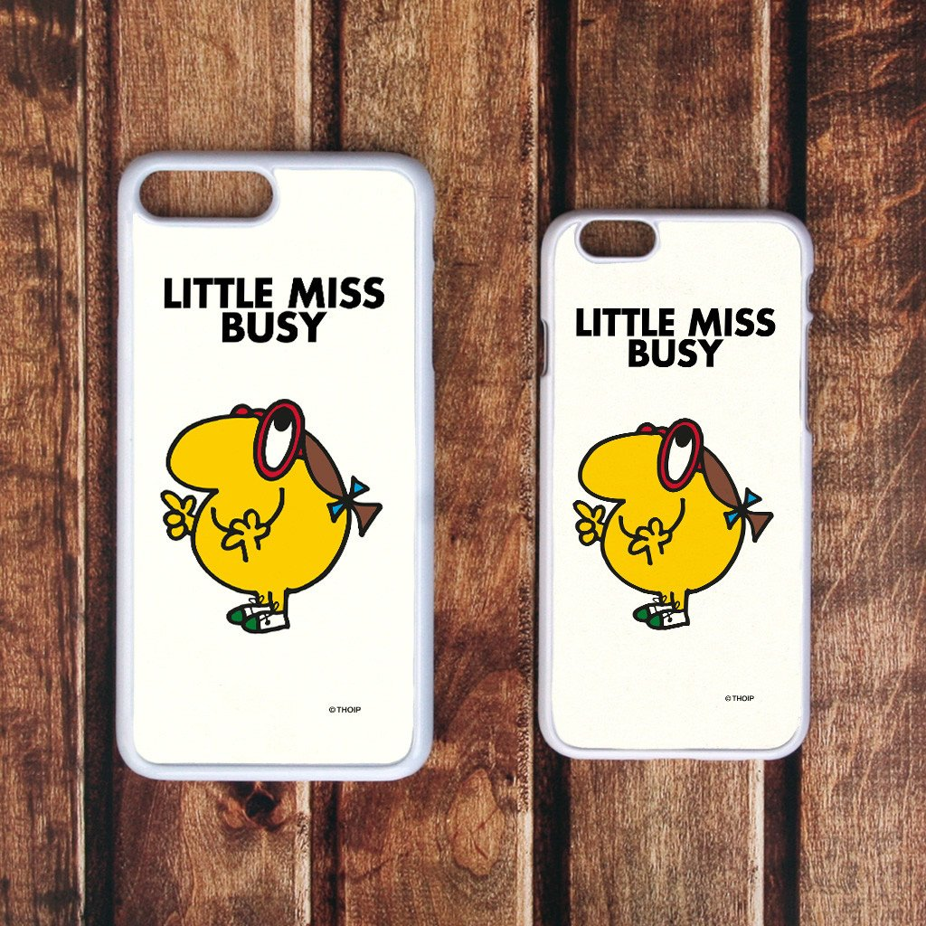 Little Miss Busy White Phone Case (Lifestyle)