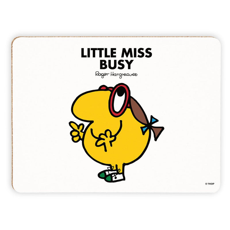 Little Miss Busy Cork Placemat