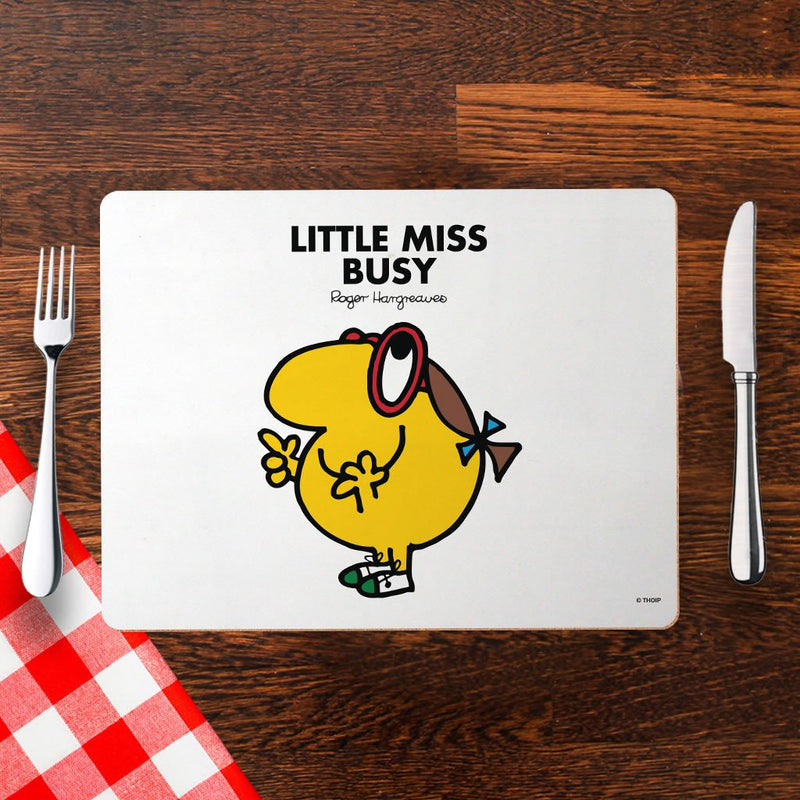 Little Miss Busy Cork Placemat (Lifestyle)