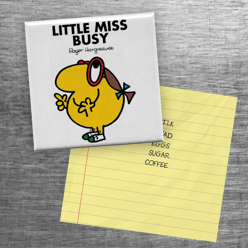Little Miss Busy Square Magnet (Lifestyle)