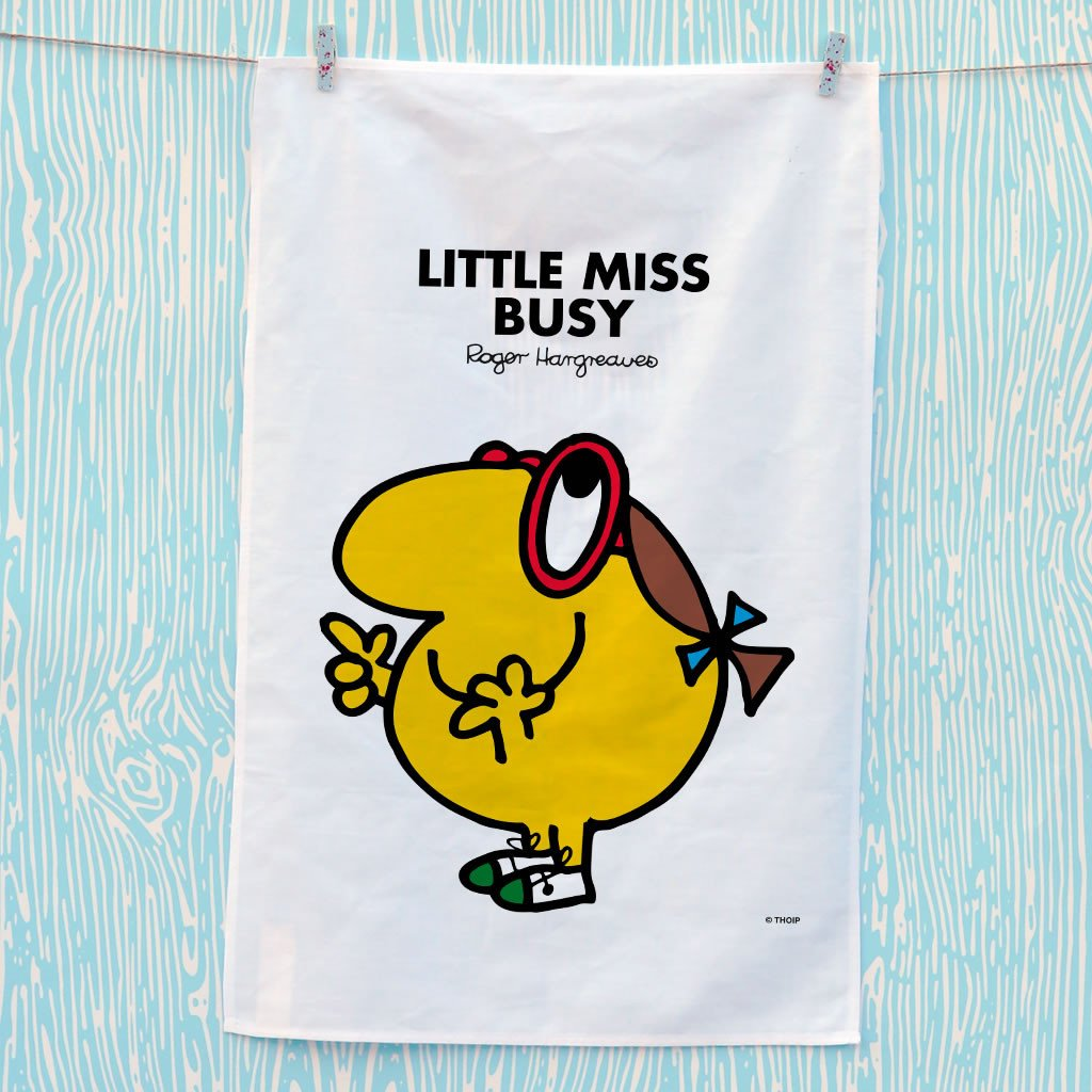 Little Miss Busy Tea Towel (Lifestyle)
