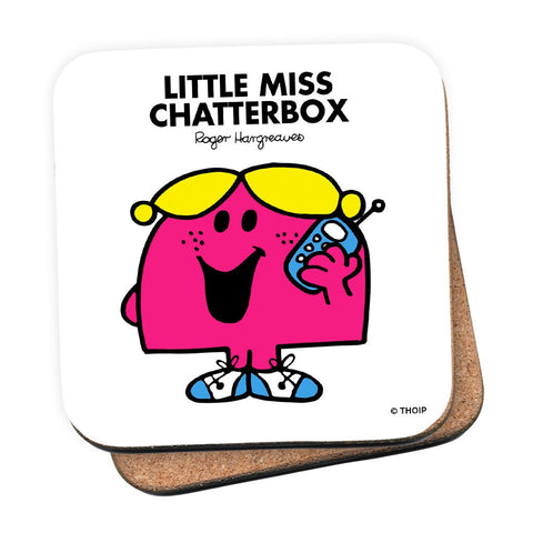 Little Miss Chatterbox Cork Coaster