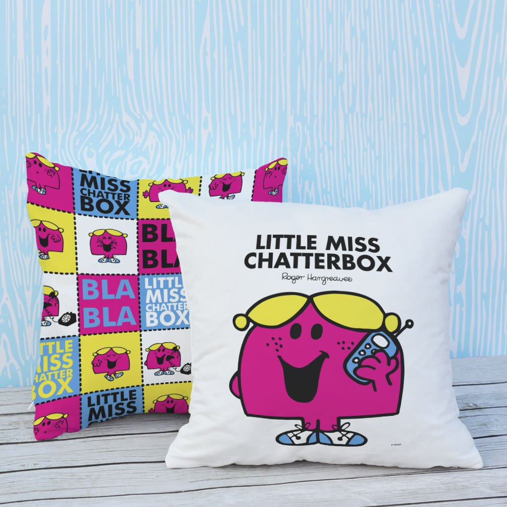 Little Miss Chatterbox Micro Fibre Cushion (Lifestyle)