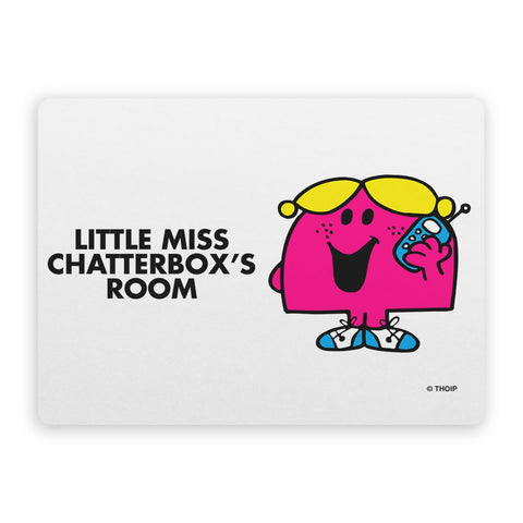 Little Miss Chatterbox Door Plaque