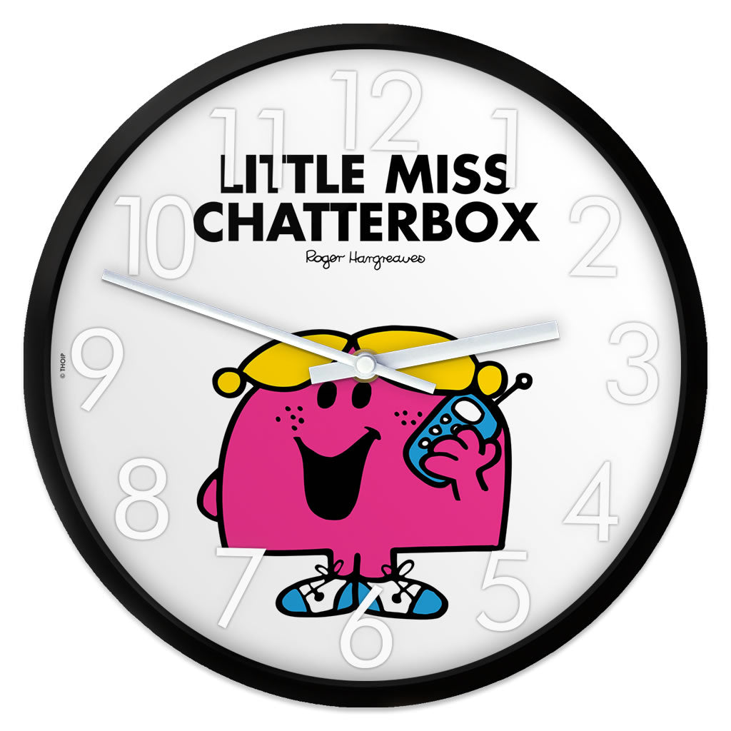 Little Miss Chatterbox Personalised Clock