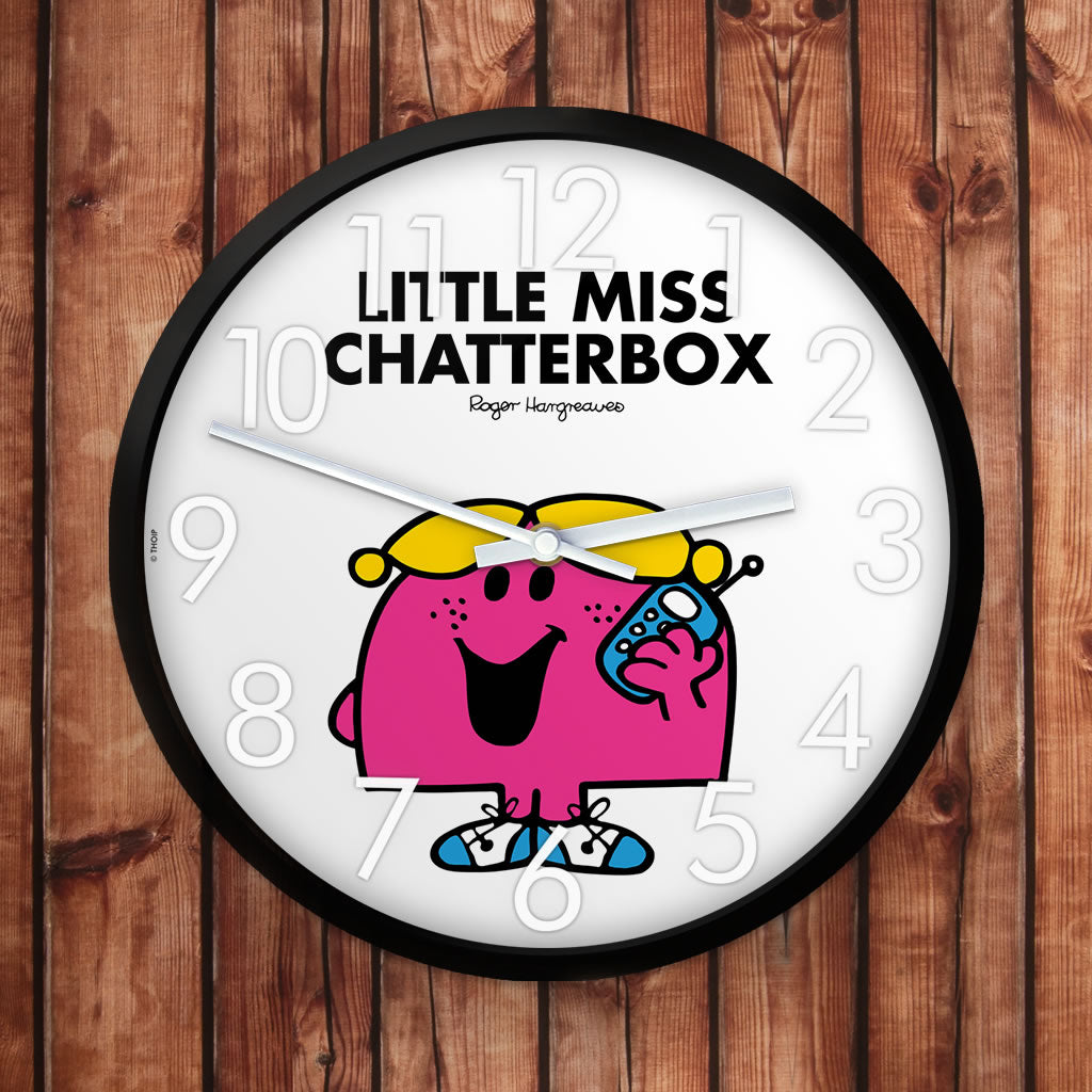 Little Miss Chatterbox Personalised Clock (Lifestyle)