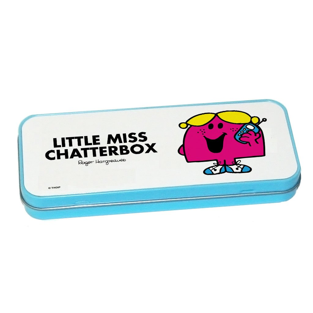 Little Miss Chatterbox Pencil Case Tin (Blue)