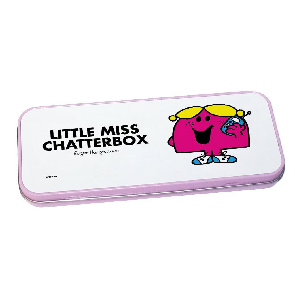 Little Miss Chatterbox Pencil Case Tin (Pink)