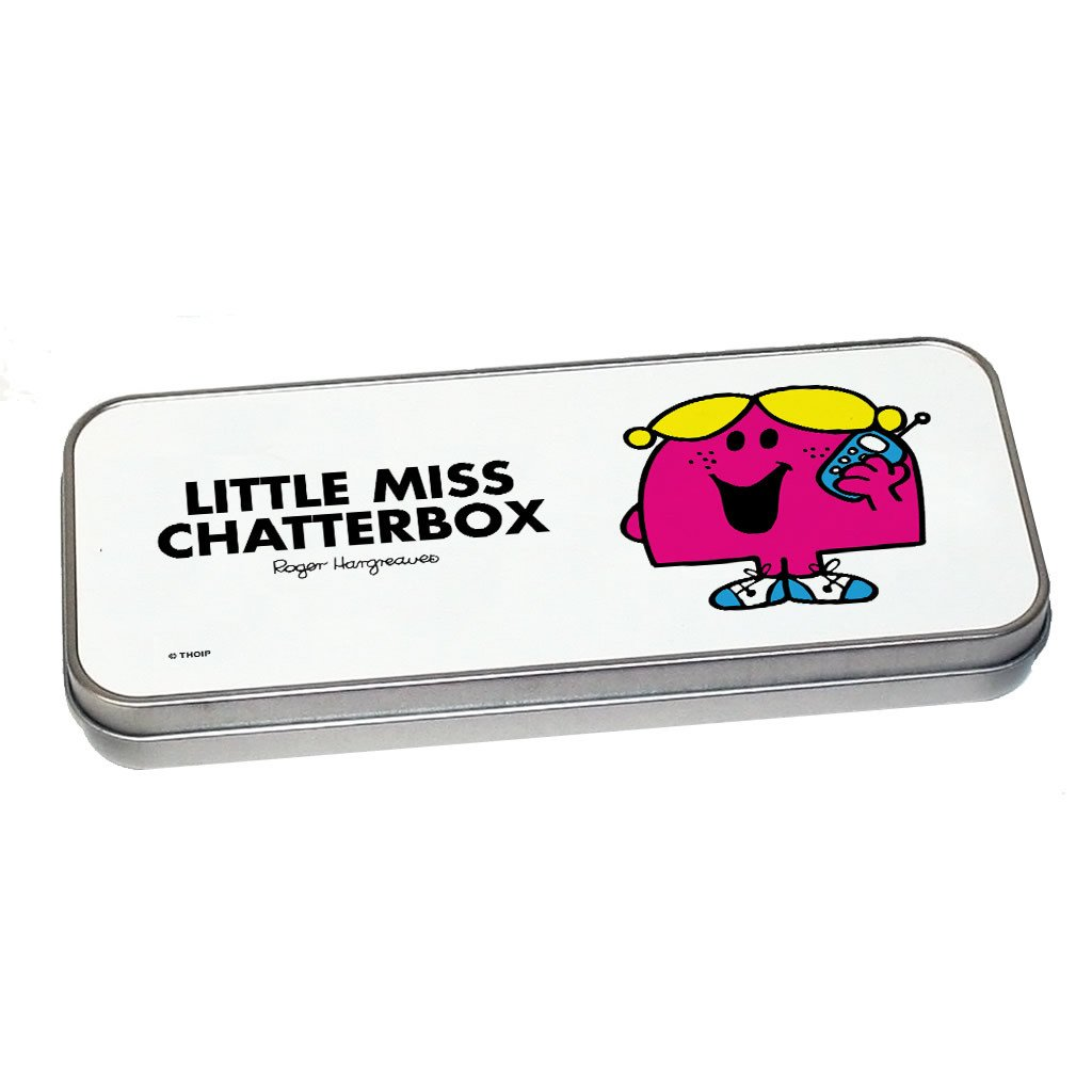 Little Miss Chatterbox Pencil Case Tin (Silver)