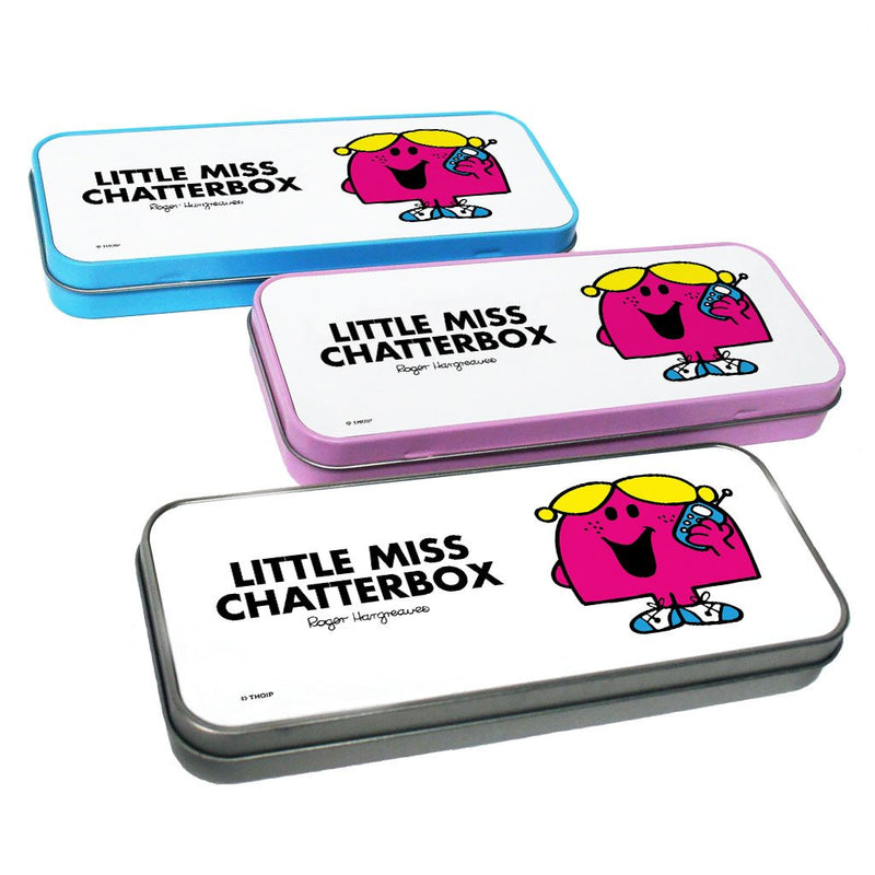 Little Miss Chatterbox Pencil Case Tin