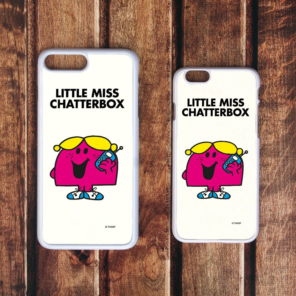 Little Miss Chatterbox White Phone Case (Lifestyle)