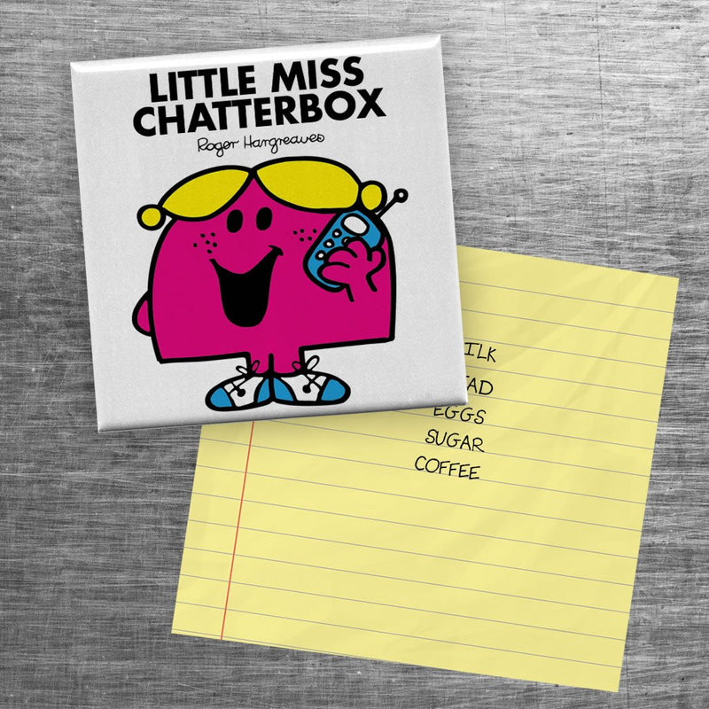 Little Miss Chatterbox Square Magnet (Lifestyle)