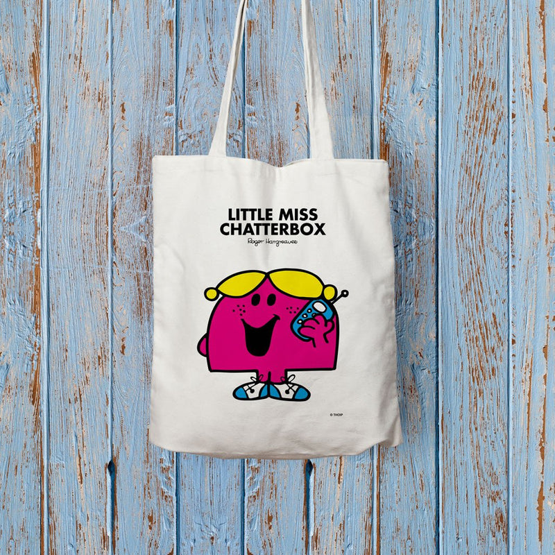 Little Miss Chatterbox Long Handled Tote Bag (Lifestyle)