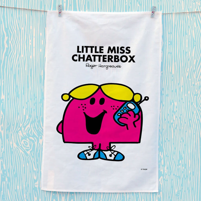 Little Miss Chatterbox Tea Towel (Lifestyle)
