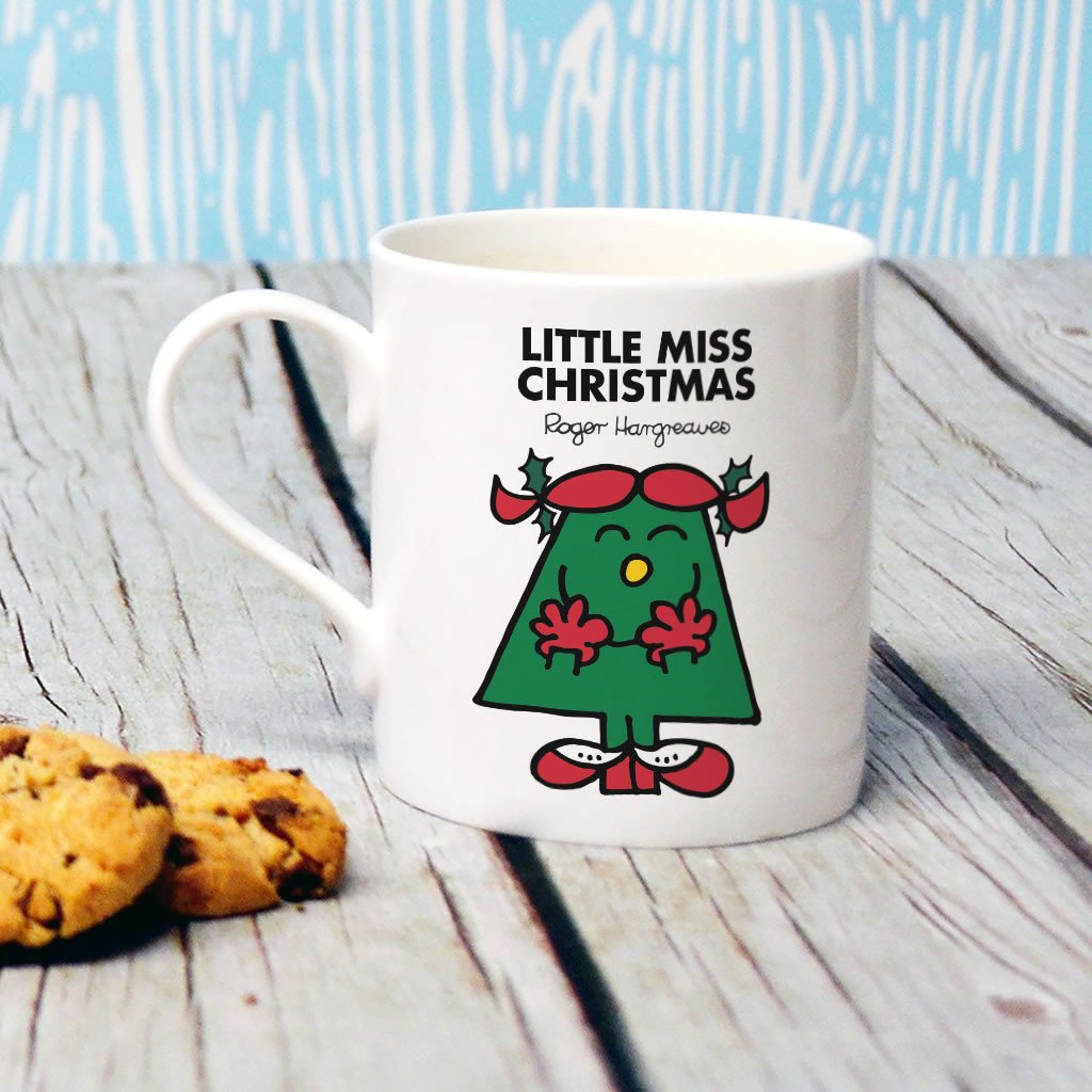 Little Miss Christmas Bone China Mug (Lifestyle)